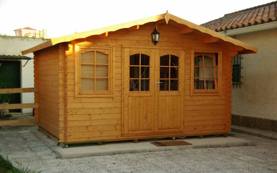 Gartenhaus Mit Fußboden 28mm ~ Agande gartenhaus blockhaus gerätehaus holz 400x300cm 28mm 372807