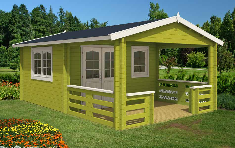 gartenh user gartenh user mit terrasse gartenhaus. Black Bedroom Furniture Sets. Home Design Ideas