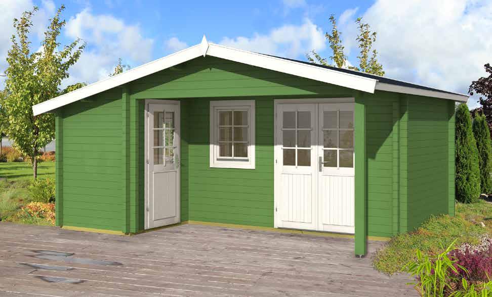 Gartenhäuser :: Gartenhäuser mit 58 mm Wandstärke :: Gartenhaus