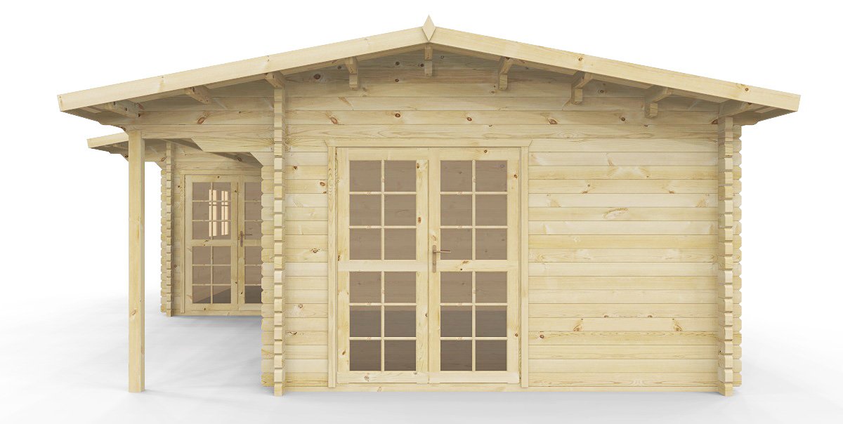 gartenh user gartenh user 58 mm gartenhaus mit sauna. Black Bedroom Furniture Sets. Home Design Ideas