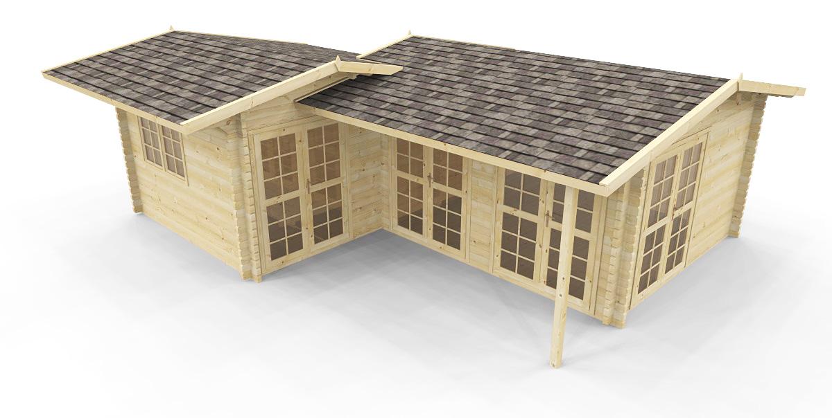gartenh user gartenh user 58 mm gartenhaus mit sauna. Black Bedroom Furniture Sets. Home Design Ideas