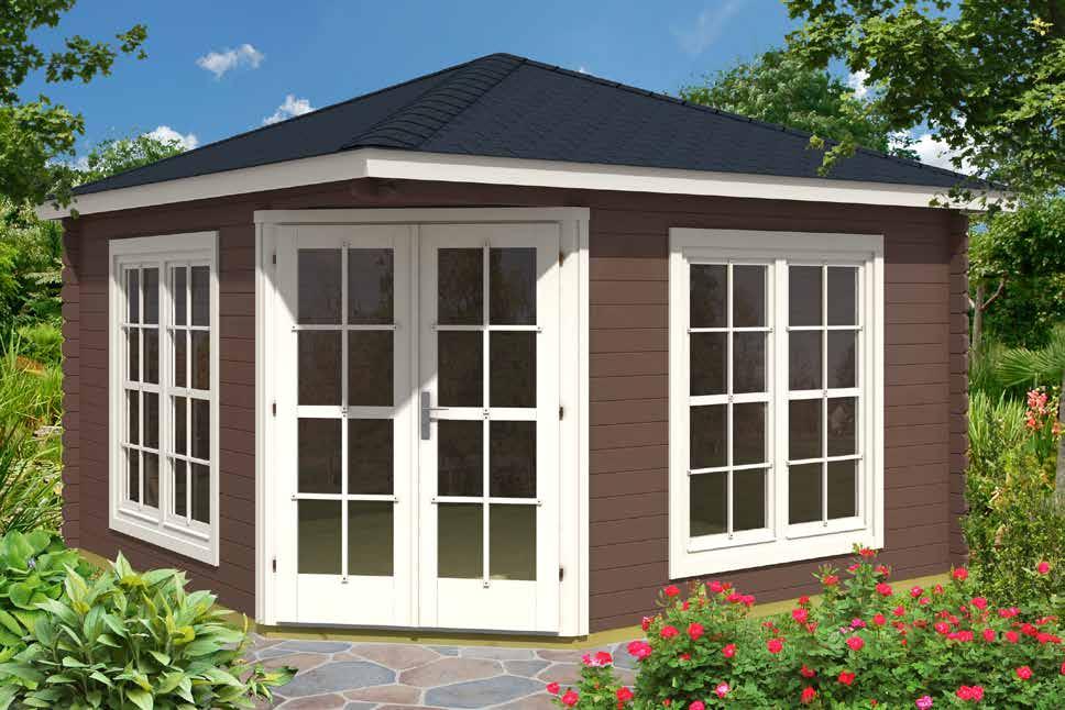 gartenh user 5 eck gartenhaus 37405 400x400cm 40mm. Black Bedroom Furniture Sets. Home Design Ideas
