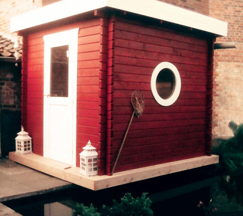 Saunahaus Blockbohlensauna Sauna Gartensauna Aussensauna 240x240 45mm 45392