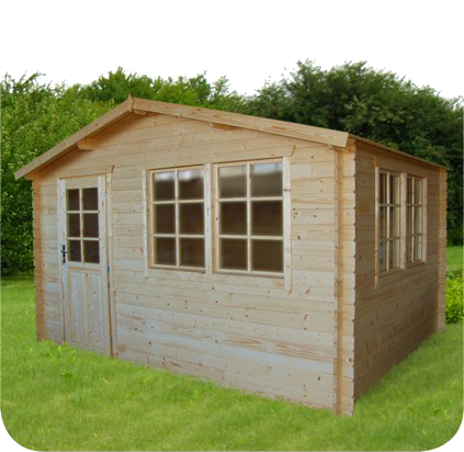 gartenhaus 403929 390x300cm 40mm. Black Bedroom Furniture Sets. Home Design Ideas
