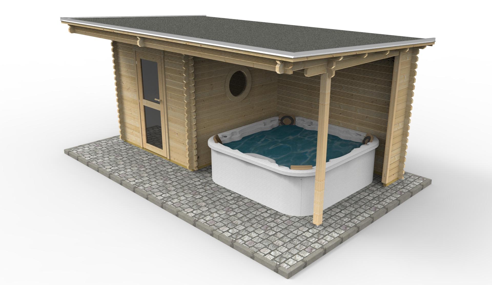 saunahaus blockbohlensauna sauna gartensauna aussensauna. Black Bedroom Furniture Sets. Home Design Ideas