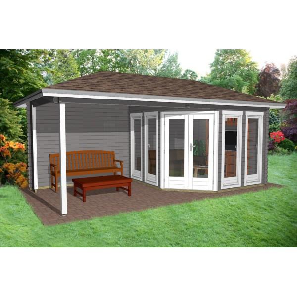 gartenhaus 5 eck blockhaus ger tehaus holz 260x260 28mm 283928. Black Bedroom Furniture Sets. Home Design Ideas