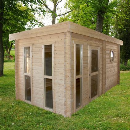 Gut bekannt Saunahaus Blockbohlensauna Sauna Gartensauna Aussensauna 240x480 RZ61