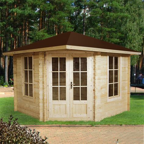 gartenhaus 5 eck blockhaus ger tehaus holz 300x300 28mm. Black Bedroom Furniture Sets. Home Design Ideas