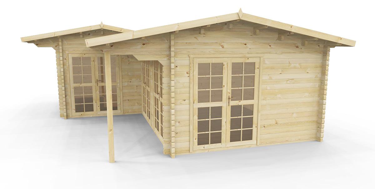 gartenh user gartenhaus nach mass gartenhaus mit sauna 584210 770x630cm 58mm. Black Bedroom Furniture Sets. Home Design Ideas