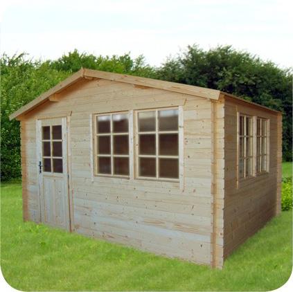 gartenhaus 403930 390x390cm 40mm. Black Bedroom Furniture Sets. Home Design Ideas