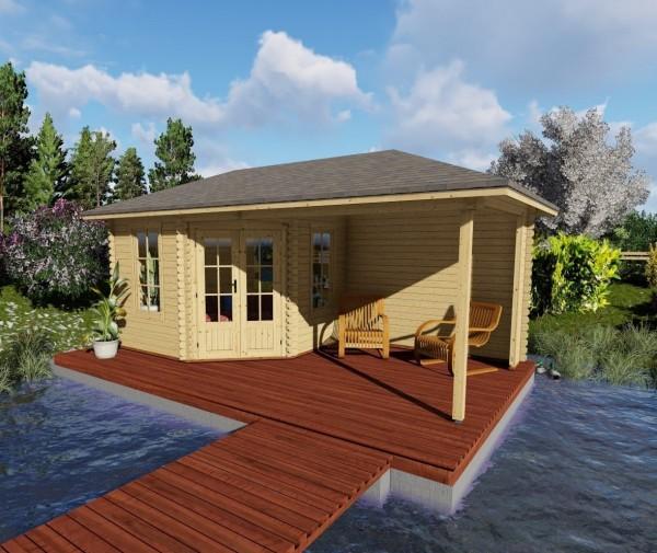 gartenhaus blockhaus ger tehaus holz 580x300 40 mm mit fu boden 18 mm 403949. Black Bedroom Furniture Sets. Home Design Ideas