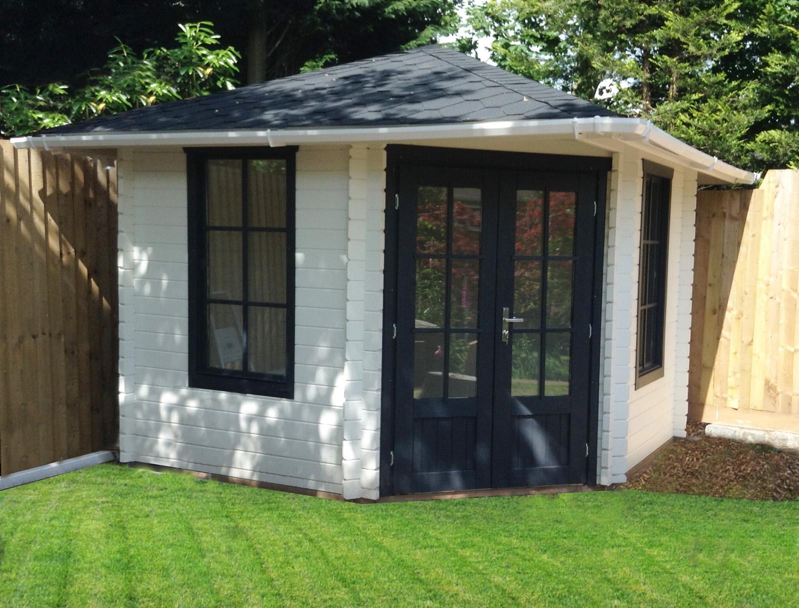 gartenhaus 5 eck blockhaus ger tehaus holz 300x300 28mm 283929. Black Bedroom Furniture Sets. Home Design Ideas
