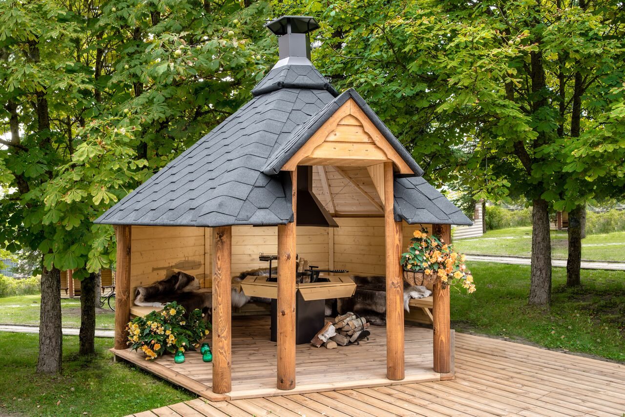 grill grillkota pavillon gartenhaus offene grillh tte kota grillhaus holz 45mm 383818. Black Bedroom Furniture Sets. Home Design Ideas