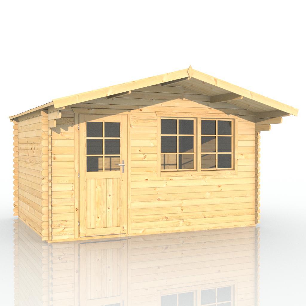 gartenhaus 403914 390x300cm 40mm. Black Bedroom Furniture Sets. Home Design Ideas