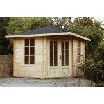 Massivholz Gartenhaus 5-Eck 283929