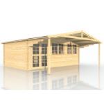 Gartenhaus mit Vordach 403911, 600x400cm, 40mm