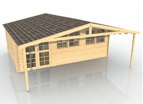 Gartenhaus mit Vordach 403911
