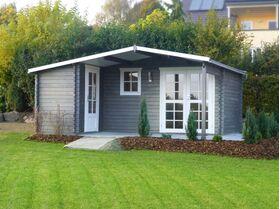 Gartenhaus mit Unterstand 283931