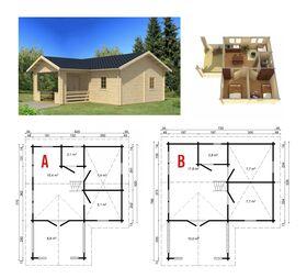 Gartenhaus 375834-AB, 620x770|720x785cm, 58|70mm