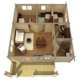 Gartenhaus 375842, 714x930cm, 58 70mm