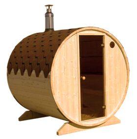 Saunafass liegend